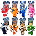 4 pcs/set Super Wings toys Mini Planes Transformation Airplane Robot Super Wing Action Figures Toy Doll