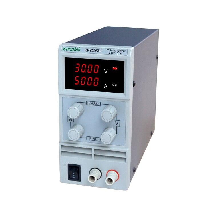 ФОТО Free shipping KPS305DF 0-30V/0-5A 110V-230V 0.1V/0.001A EU LED Digital Adjustable Switch DC Power Supply mA display