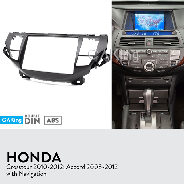 Double Din Car Fascia Radio Panel For Honda Accord 2008