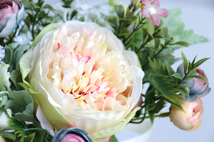 Wedding Bouquet for bridesmaids flowers artificial rose peony (13)