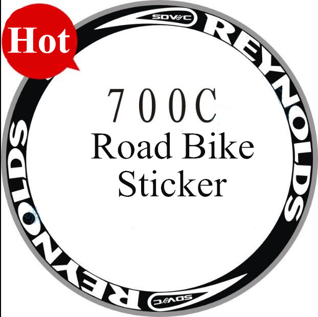 Bicycle sticker 700C road rim clincher 40/50mm decal road bike Wheels rims frame wheelset stickers fixed gear frames