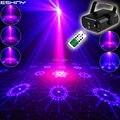 ESHINY MINI 64 Muster R & B Laser Projektor Fernbedienung Blau LED Club Bar DJ Beleuchtung Licht Dance Weihnachten Disco home Party Lichter N8T145-in Bühnen-Lichteffekt aus Licht & Beleuchtung bei