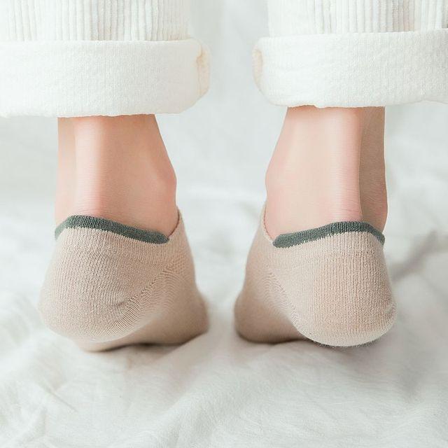 Women Socks 2019 New Spring Socks Woman 5 pair Short Cotton Solid Color Cute Letter Women Fashion Ankle Socks For Women