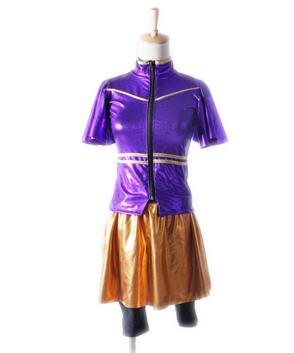 Spandex gymnastique Tutu justaucorps à manches longues filles enfant robe de Ballet vêtement de danse violet lumière tissu danse Costumes femmes