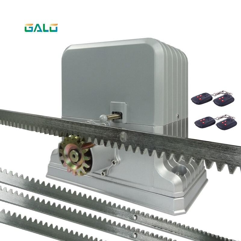 Open Vehicle 1800KG Sliding Gate Opener With 4m Racks 1photocell 1alarm Light Remote Controller Optional