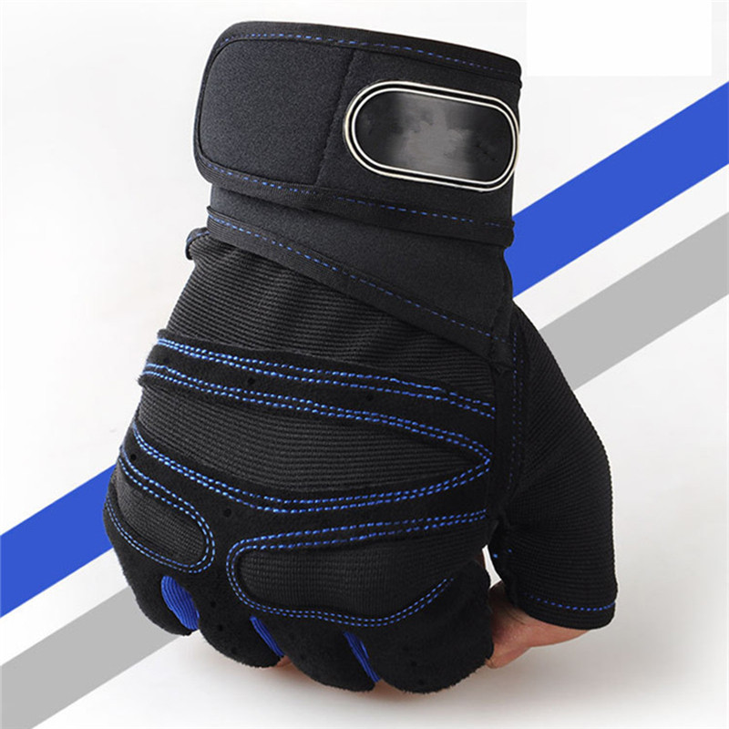 Body Building Training Sports Fitness WeightLifting Gloves For Men Women Gym Crossfit Gloves Drop Shipping body building sports cyling half finger gloves for women black red