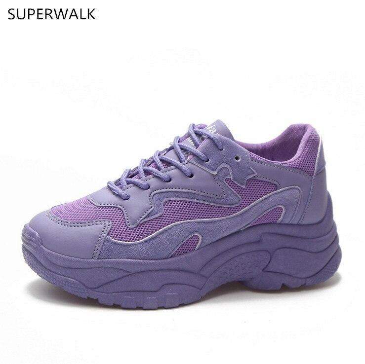 Air 2018 Femmes Purple Xiaoxi Rouge Papa Même Nouilles Avec Loisirs Respiration Net La purple white Ins Chaussettes Violet Pink New Course De Chaussures zpqMSUV