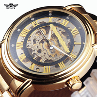 2014 Fashion Men Watch Steel Case Mens Automatic Carving Roman Index Dial Multi Layer Skeleton Wristwatch