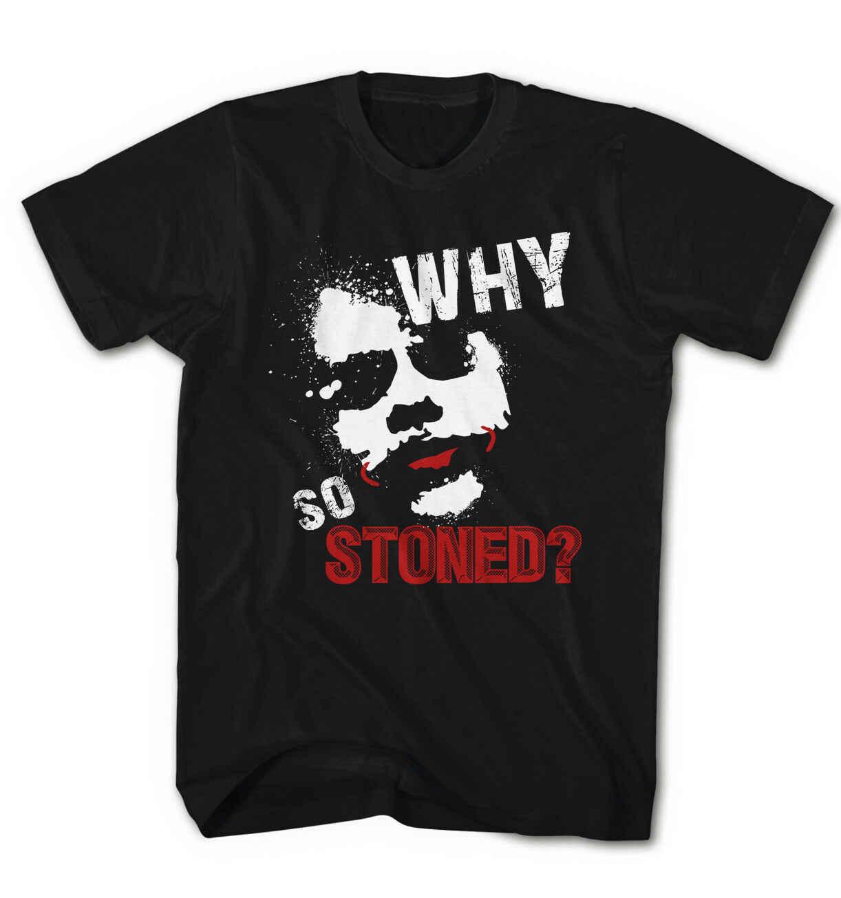 Мужская футболка, почему в качестве Утюги? Джокер Супер Бэтмен-герой Игра Новая Летняя короткая Повседневная o-образным вырезом мужские футболки