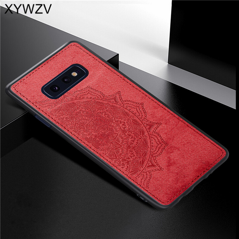Image 5 - For Samsung Galaxy S10 Lite Case Soft TPU Silicone Cloth Texture Hard PC Phone Case For Samsung S10 Lite Cover For Samsung S10e-in Fitted Cases from Cellphones & Telecommunications