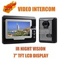 DIYSECUR 7 inch TFT Color LCD Display Video Door Phone Visual Intercom Doorbell Hands Free IR Night Vision Wholesale