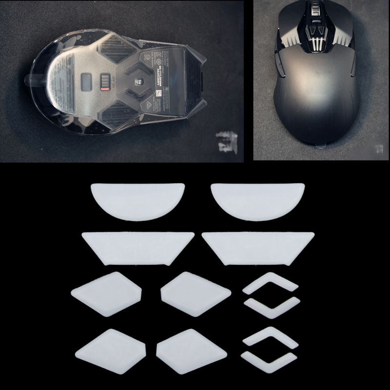 2 Sets/pack Tiger Gaming Mouse Feet Mouse Skate For Logitech G900 White Teflon Mouse Glides Curve Edge