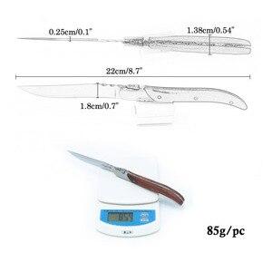 Image 5 - Стейк нож из нержавеющей стали 8,7 дюйма, 6 шт., Оливье, стиль Laguiole, столовые приборы в деревянной коробке, вилка для стейка