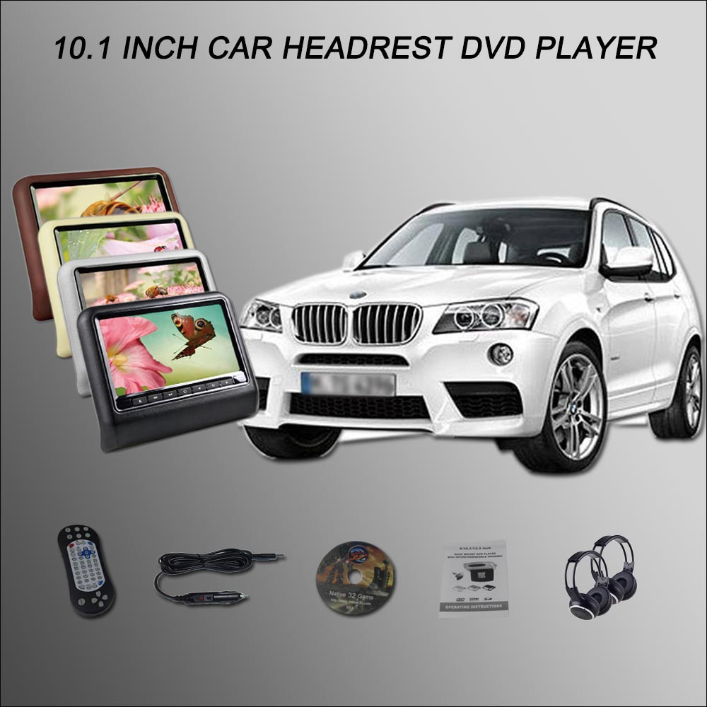BigBigRoad для BMW X1 X3 X4 X5 X6 2*10,1 подголовник автомобиля монитор с HDMI USB SD dvd плеер ИК пульт дистанционного Управление автомобильный dvd монитор