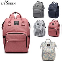LEQUEEN Fashion Mommy Diaper Bag Portable Maternity Large Capacity Baby Travel Backpack Waterproof Care