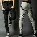 2016 dos homens sweatpants corredores hip hop soltas calças virilha casuais slim fit algodão harem pants calças magros dropshipping