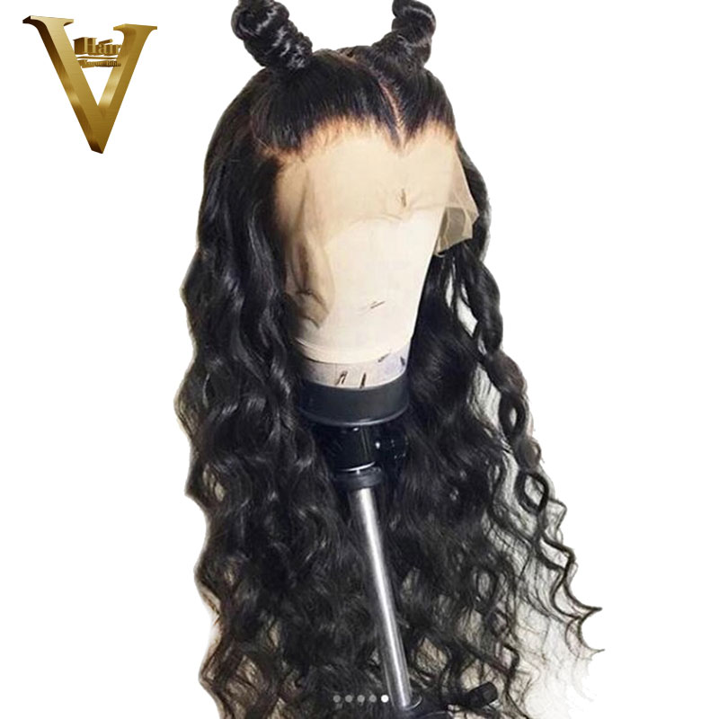 150 180 250 Density 360 Lace Frontal Wig Pre Plucked With Baby Hair 8 26 Curly