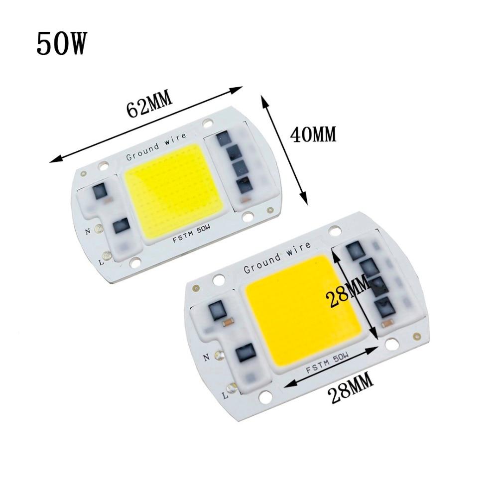 AC220V 20 Вт 30 Вт 50 Вт светодиодный удара чип свет лампы нет необходимости водитель подчеркнул источник света DIY Чип лампы для мотоциклов лампы д...