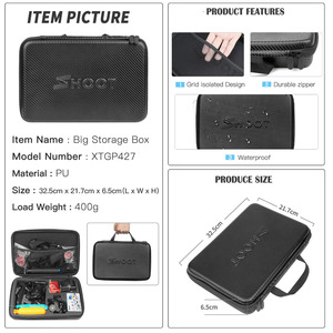 Image 5 - SHOOT eylem kamera aksesuarları dağı GoPro Hero 9 8 7 5 siyah Xiaomi Yi 4K Dji Osmo Sjcam m20 M10 Eken H9r git Pro Hero 8 7