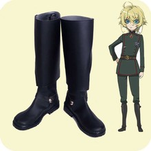 Saga of Tanya the Evil Cosplay shoes Youjo Senki Tanya von Degurechaff Anime boots Custom-made tanya michaels not quite as advertised