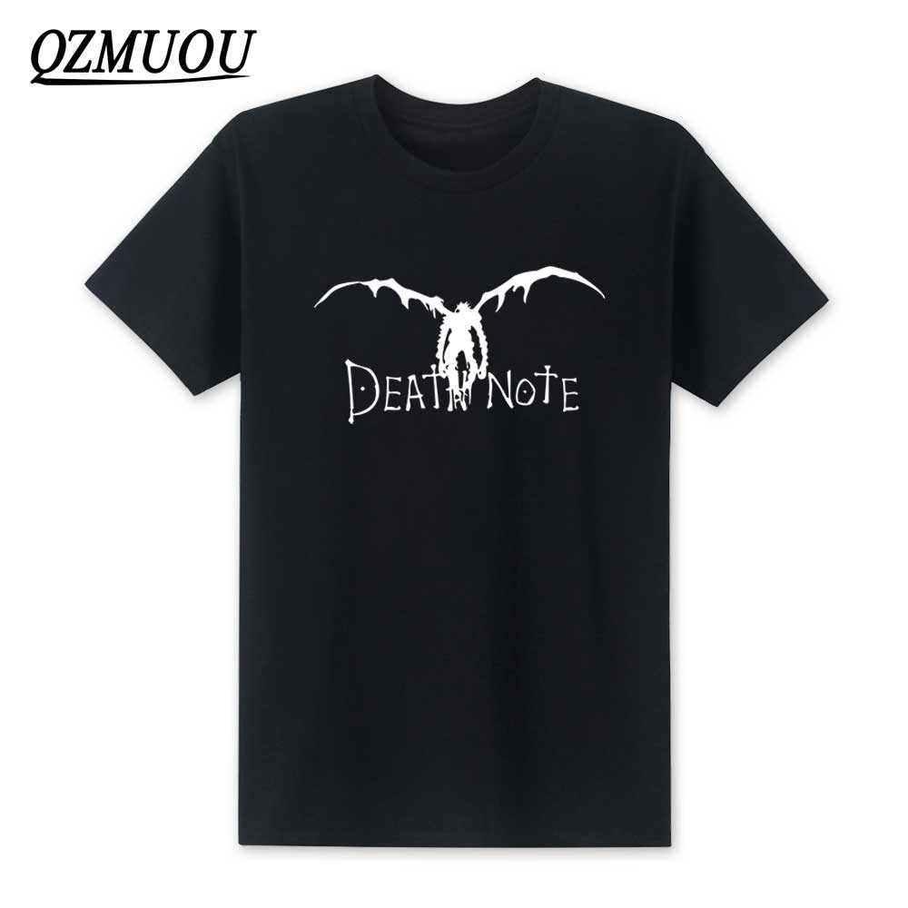 New 2018 Japan New Death Note Men T Shirts Cotton Cool Anime Cartoon Short Sleeve T-shirt Camisetas T shirt Mens Clothing XS-XXL