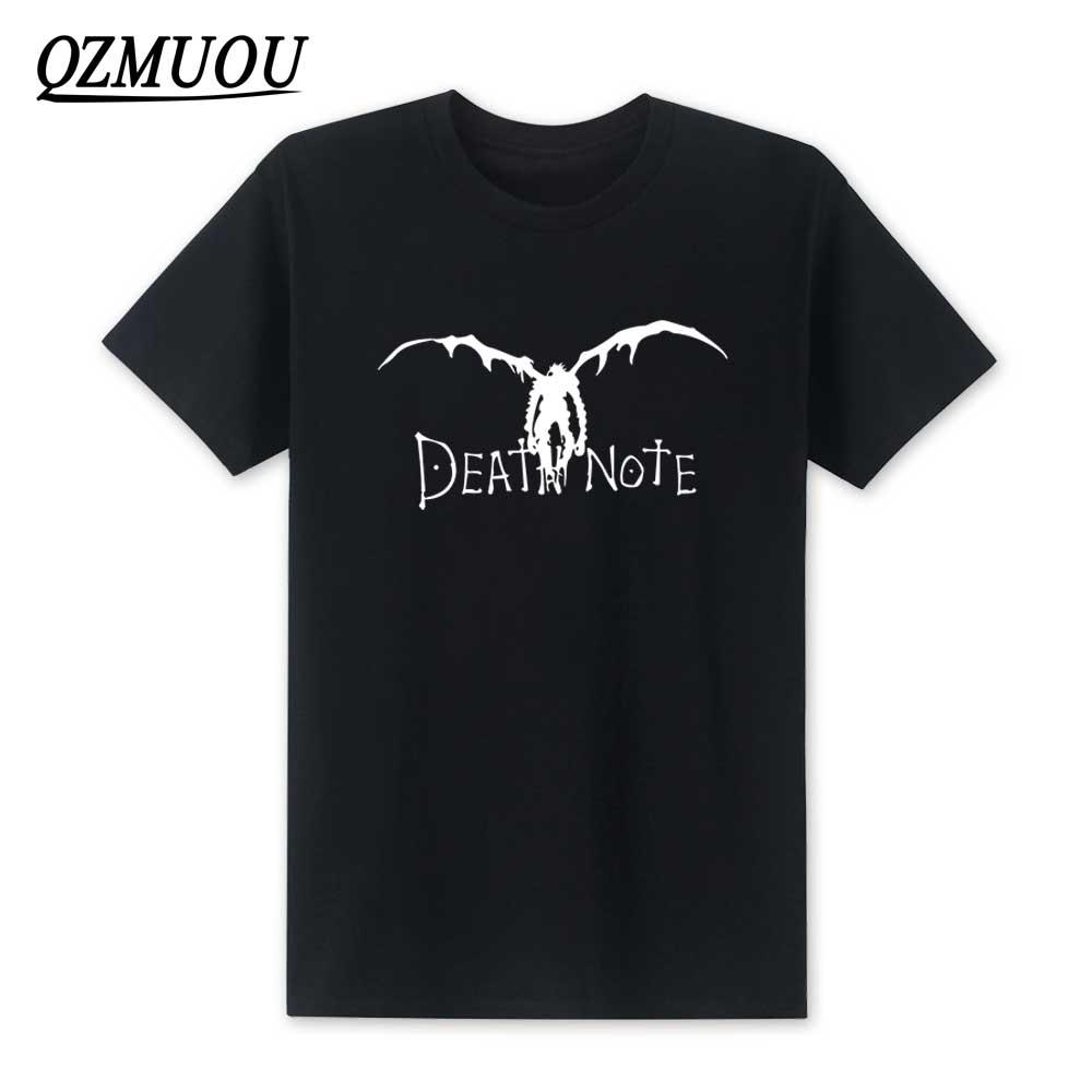 Anime Printed Homme T-shirt Printed T Cool T-shirt Cartoon T Shirt Men Unisex New Fashion Tshirt L Evolution De Death Note