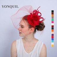 NOWY projekt PRZYJAZD 17 kolory Okazji kościół kentucky derby sinamay fascinators z piór pani kapelusze ślubne stroiki ślubne