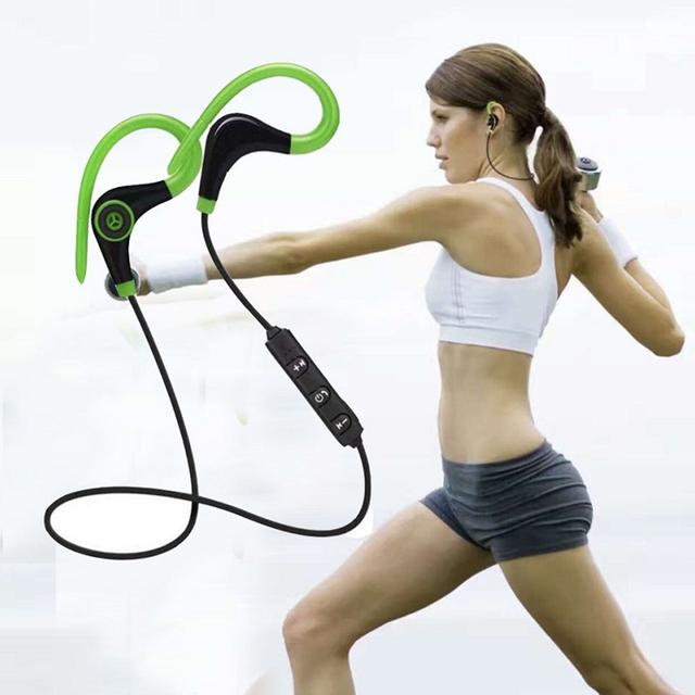 Wireless Bluetooth Headphones 3D Bass Music Earphones Sports Headset Sweatproof Cordless Earbuds Handsfree with Mic for Phone