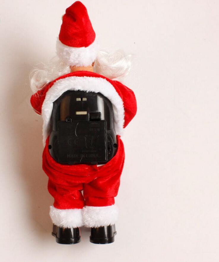 Buon Natale 883.Us 14 99 Creativo Buon Natale Cosplay Babbo Natale Con La Candela Lampada Sax Cantando Canzoni Elettrico Giocattolo Regalo Per Il Ragazzo Ragazze In
