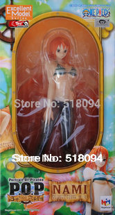 Free Shipping Anime 8.7 One Piece P.O.P POP Nami After 2 Years Sexy Boxed PVC Action Figure Collection Model Toy Gift OPFG035 brand new portrait of pirates one piece roronoa zoro 23cm pvc cool cartoon action figure model toy for gift kids free shipping