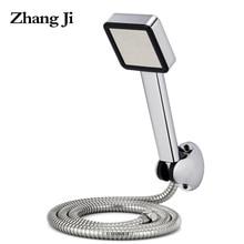 80 agujero accesorio de Baño ducha filtro Presurizado de ahorro de agua cabezal de ducha de mano conjuntos Chromeplate ABS square ducha headsZJ024