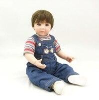 50 см силикона Reborn Baby Doll игрушки 20 дюймов для маленьких мальчиков младенцев кукла девочек Brinquedos подарок на Новый год игровой дом игрушки для