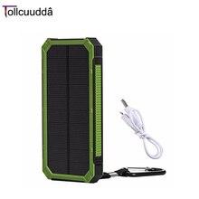 100% Оригинал Tollcuudda DYLH01 10000 мАч Портативный Телефон Зарядное устройство Солнечной Энергии Банк Двойной ИСПОЛЬЗОВАТЬ Интерфейсы Основной Водонепроницаемый