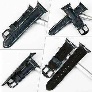 Image 3 - MAIKES Vintage Oil Wax Leather Watch Strap Watchband For Apple Watch Band 44mm 40mm 42mm 38mm Series 6/5/4/3/2/1 iWatch Bracelet