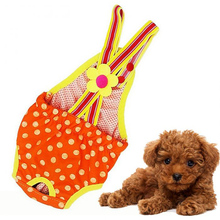 Pet Dog Cat Clothes Cotton Polka Dots Suspender Pants Physiological Underwear Tighten Sanitary Briefs