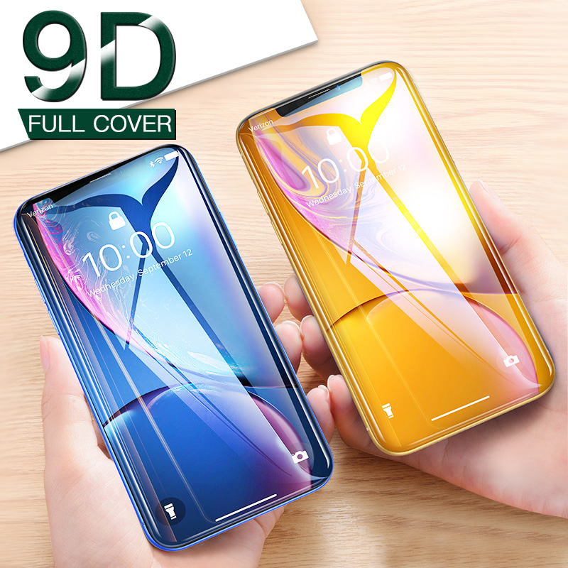 9D Cover Screen Protector Film For IPhone X XR XS Max 11 Pro Toughed Tempered Glass On The For IPhone 7 8 6 6S Plus Phone Glass