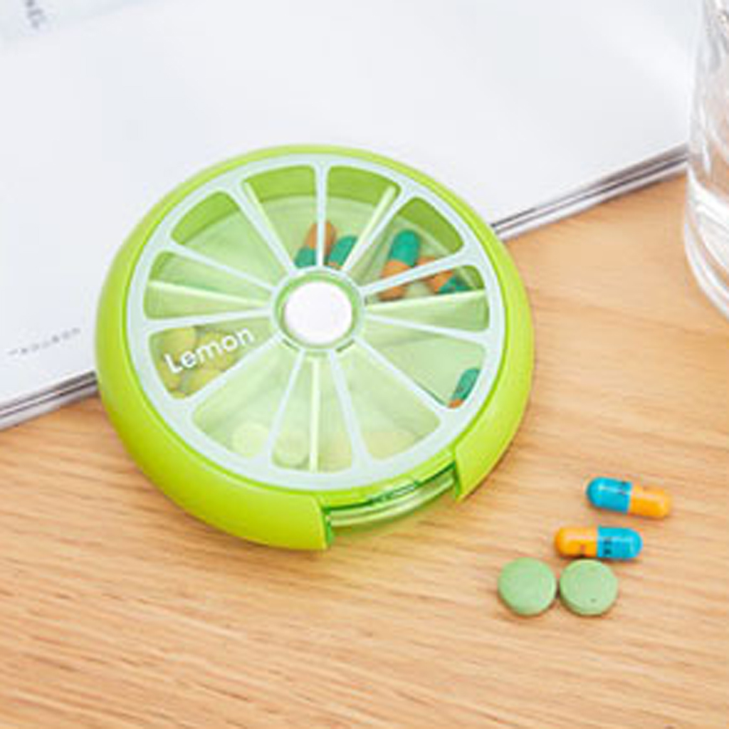 Rotary Pill Box Mini Medicine Candy Gum Travel Case Cute Multifunctional Emergency Medical Emergency Medicine Small Package Box