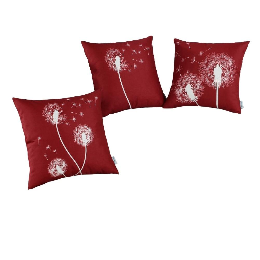 Almohadas cuadradas de CaliTime Cubierta de cojín para el hogar - Textiles para el hogar