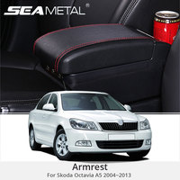 For Skoda Octavia A5 2010 Armrest Box Leather Central Armrest Console Box USB Auto Storage Car Organizer Accessories Car styling