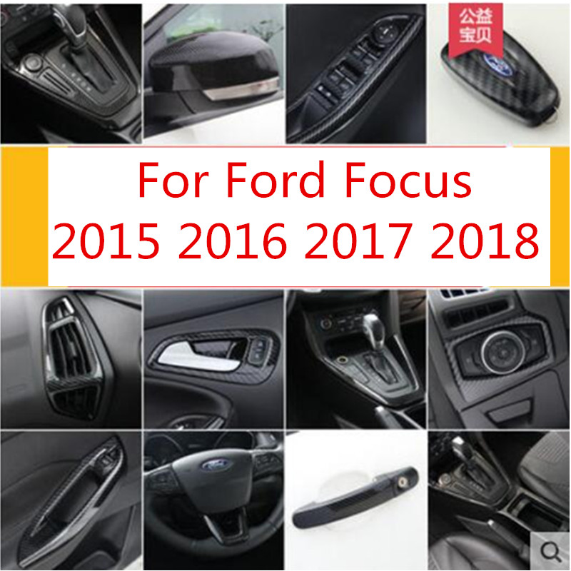 High-quality ABS Carbon Fiber Interior Trim Sequins, Dashboard Trim For <font><b>Ford</b></font> <font><b>Focus</b></font> 2015 2016 <font><b>2017</b></font> 2018 Car-styling image