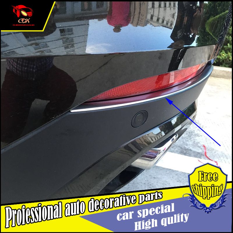 2PCS Car Styling ABS Chrome Rear Fog Light Lamp trim For BMW X6 2015 Car rear bumper fog lamp light trim Decoration Accessories title=