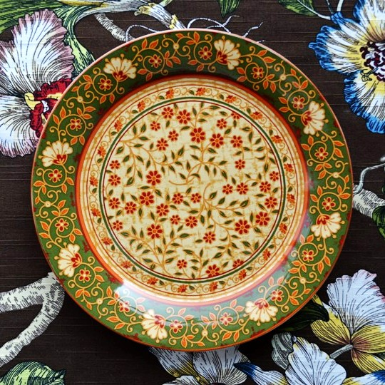 Earendil/Persian style ceramic tableware shah buss palm leaf salad small decorative plate/ & Earendil/Persian style ceramic tableware shah buss palm leaf salad ...