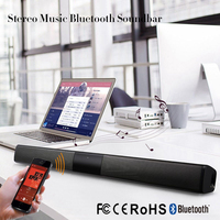 20W Wireless Bluetooth Column Soundbar Stereo Speaker TV Home Theater Built in Lithium Battery 2.0A Sound Bar TF USB Sound Bar