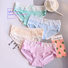 4pcs/Lot Kawaii Women Underwear Plus Size 100% Cotton Lady Panties Double Comfortable Intimates Lovely Girl Briefs No. 2