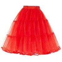 Belle Poque נשים חצאיות טוטו תחתונית קרינולינה 50 s רטרו וינטג חתונת תחתוניות תחתוניות אדום לפרוע שחור לבן 2018
