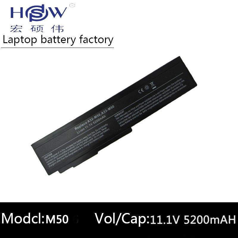 HSW Batterie d'ordinateur portable pour Asus N53S N53SV A32-M50 A32-N61 A32-X64 batterie pour ordinateur portable N53 M50s A33-M50 N61J N61D N61VG N61JA n61JV