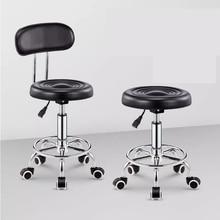 Регулируемые парикмахерские кресла гидравлический поворотный стул на роликах стул салон спа-Бар Кафе тату Массаж Лица Салон мебель