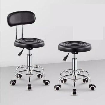 Einstellbar Barber Stühle Hydraulische Roll Swivel Hocker Stuhl Salon Spa Bar cafe Tattoo Gesichts Massage Salon Möbel