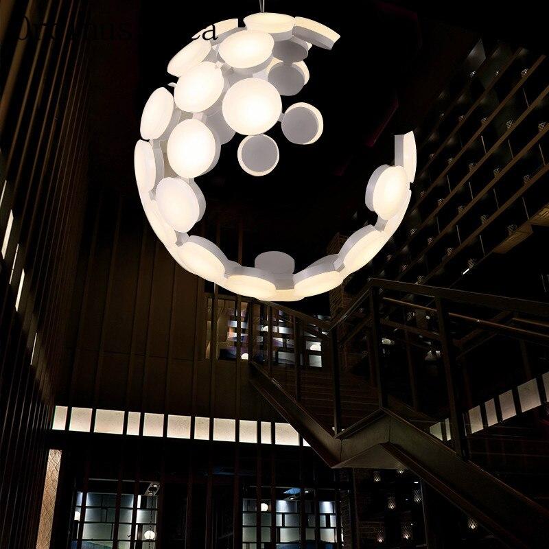US $331.2 10% di SCONTO|Nordic lampadario moderno e minimalista che scava  creativo soggiorno camera da letto ristorante a forma di palla personalità  ...