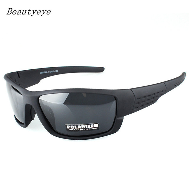 f336f5a38b7 2018 New Black frame glasses Sports Sunglasses Polarized Men and Women  brand designers driving Fishing Sun